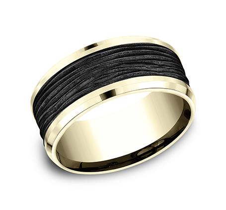 9MM YELLOW GOLD DESIGN BAND CF449743BKTY - 9MM YELLOW GOLD DESIGN BAND CF449743BKTY