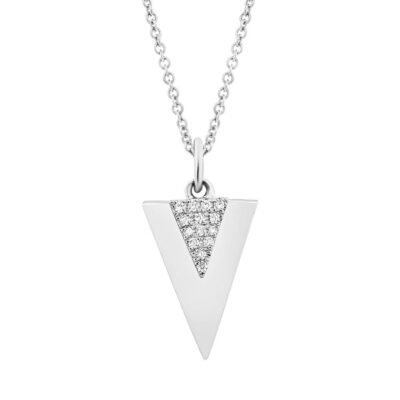 0.03ct 14k White Gold Diamond Triangle Pendant SC55002943 400x400 - 0.03ct 14k White Gold Diamond Triangle Pendant SC55002943