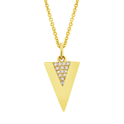0.03ct 14k Yellow Gold Diamond Triangle Pendant SC55002944 400x400 - 0.03ct 14k Yellow Gold Diamond Triangle Pendant SC55002944