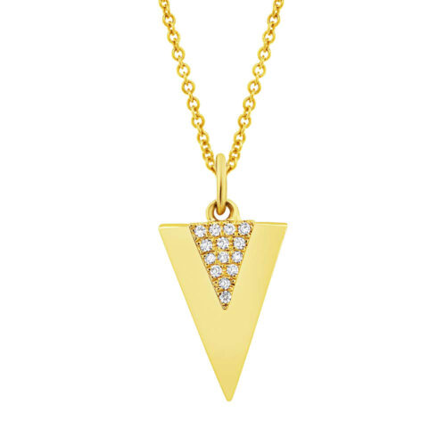 0.03ct 14k Yellow Gold Diamond Triangle Pendant SC55002944 500x500 - 0.03ct 14k Yellow Gold Diamond Triangle Pendant SC55002944