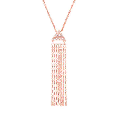 0.11ct 14k Rose Gold Diamond Fringe Pendant SC55003405 400x400 - 0.11ct 14k Rose Gold Diamond Fringe Pendant SC55003405