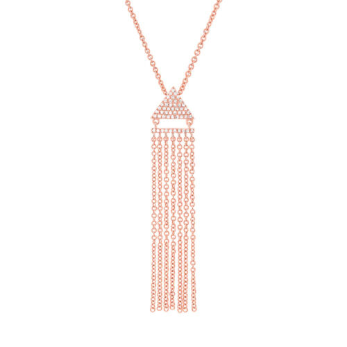 0.11ct 14k Rose Gold Diamond Fringe Pendant SC55003405 500x500 - 0.11ct 14k Rose Gold Diamond Fringe Pendant SC55003405