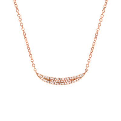 0.11ct 14k Rose Gold Diamond Pave Crescent Pendant SC55001918 400x400 - 0.11ct 14k Rose Gold Diamond Pave Crescent Pendant SC55001918