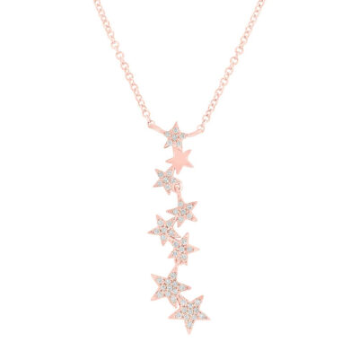 0.11ct 14k Rose Gold Diamond Star Pendant SC55006068 400x400 - 0.11ct 14k Rose Gold Diamond Star Pendant SC55006068
