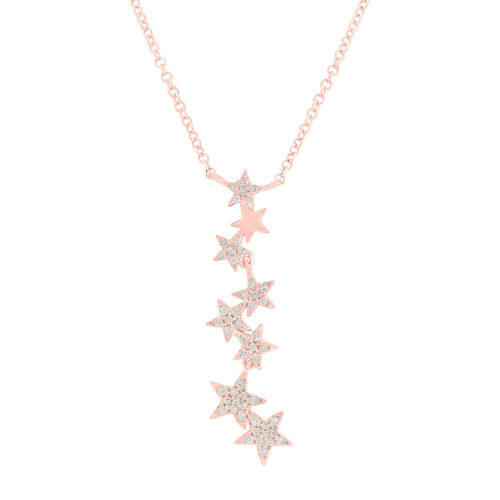 0.11ct 14k Rose Gold Diamond Star Pendant SC55006068 500x500 - 0.11ct 14k Rose Gold Diamond Star Pendant SC55006068