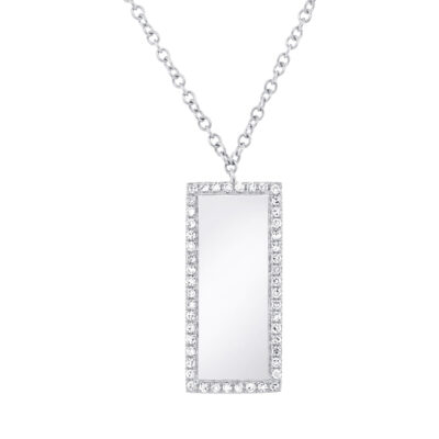 0.11ct 14k White Gold Diamond Bar ID Pendant SC55002347 400x400 - 0.11ct 14k White Gold Diamond Bar ID Pendant SC55002347