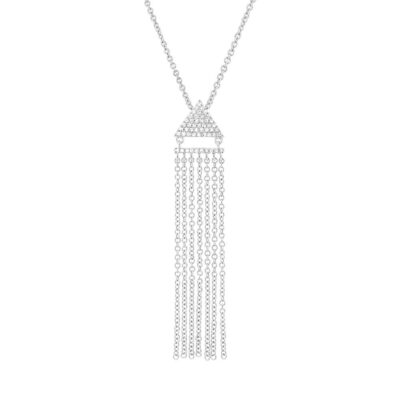 0.11ct 14k White Gold Diamond Fringe Pendant SC55003403 400x400 - 0.11ct 14k White Gold Diamond Fringe Pendant SC55003403