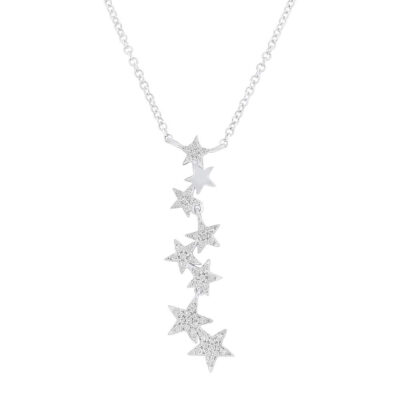 0.11ct 14k White Gold Diamond Star Pendant SC55006066 400x400 - 0.11ct 14k White Gold Diamond Star Pendant SC55006066