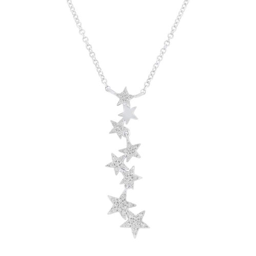 0.11ct 14k White Gold Diamond Star Pendant SC55006066 500x500 - 0.11ct 14k White Gold Diamond Star Pendant SC55006066