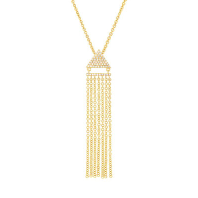 0.11ct 14k Yellow Gold Diamond Fringe Pendant SC55003404 400x400 - 0.11ct 14k Yellow Gold Diamond Fringe Pendant SC55003404