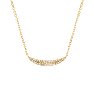 0.11ct 14k Yellow Gold Diamond Pave Crescent Pendant SC55001917 400x400 - 0.11ct 14k Yellow Gold Diamond Pave Crescent Pendant SC55001917