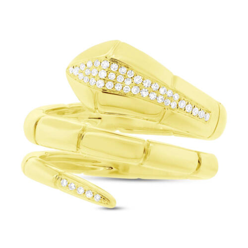 0.11ct 14k Yellow Gold Diamond Snake Ring SC55004336 1 500x500 - 0.11ct 14k Yellow Gold Diamond Snake Ring SC55004336