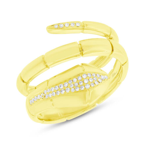 0.11ct 14k Yellow Gold Diamond Snake Ring SC55004336 500x500 - 0.11ct 14k Yellow Gold Diamond Snake Ring SC55004336