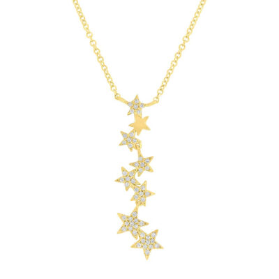 0.11ct 14k Yellow Gold Diamond Star Pendant SC55006067 400x400 - 0.11ct 14k Yellow Gold Diamond Star Pendant SC55006067