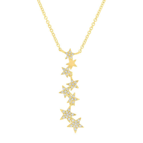 0.11ct 14k Yellow Gold Diamond Star Pendant SC55006067 500x500 - 0.11ct 14k Yellow Gold Diamond Star Pendant SC55006067