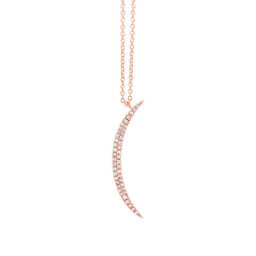 0.13ct 14k Rose Gold Diamond Crescent Pendant SC55002104 500x500 - 0.13ct 14k Rose Gold Diamond Crescent Pendant SC55002104