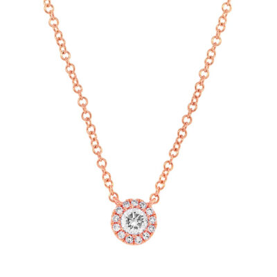 0.14ct 14k Rose Gold Diamond Pendant SC55002697 400x400 - 0.14ct 14k Rose Gold Diamond Pendant SC55002697