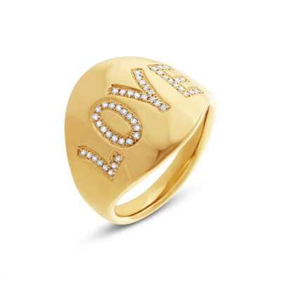 "0.14ct 14k Yellow Gold Diamond Love Ring SC55001936 400x400 - 0.14ct 14k Yellow Gold Diamond ""Love"" Ring SC55001936"