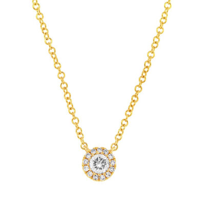 0.14ct 14k Yellow Gold Diamond Pendant SC55002696 400x400 - 0.14ct 14k Yellow Gold Diamond Pendant SC55002696