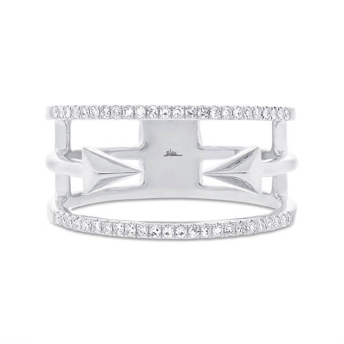 0.15ct 14k White Gold Diamond Ladys Ring SC55002505 1 500x500 - 0.15ct 14k White Gold Diamond Lady's Ring SC55002505