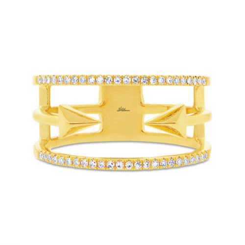 0.15ct 14k Yellow Gold Diamond Ladys Ring SC55002506 1 500x500 - 0.15ct 14k Yellow Gold Diamond Lady's Ring SC55002506
