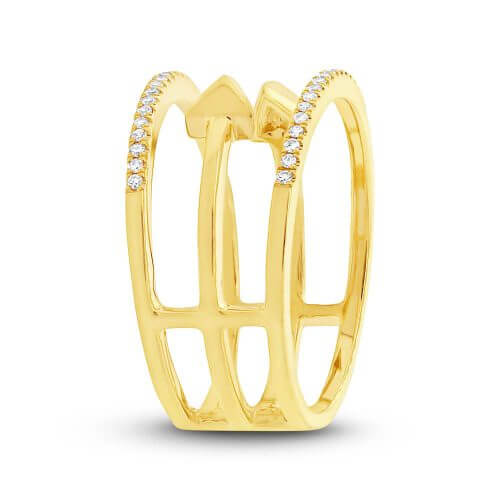 0.15ct 14k Yellow Gold Diamond Ladys Ring SC55002506 2 500x500 - 0.15ct 14k Yellow Gold Diamond Lady's Ring SC55002506