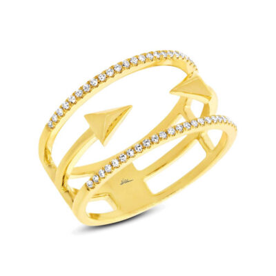 0.15ct 14k Yellow Gold Diamond Ladys Ring SC55002506 400x400 - 0.15ct 14k Yellow Gold Diamond Lady's Ring SC55002506