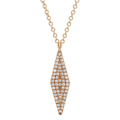 0.17ct 14k Rose Gold Diamond Pave Pendant SC55001718 400x400 - 0.17ct 14k Rose Gold Diamond Pave Pendant SC55001718