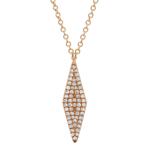 0.17ct 14k Rose Gold Diamond Pave Pendant SC55001718 500x500 - 0.17ct 14k Rose Gold Diamond Pave Pendant SC55001718