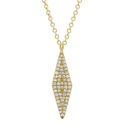 0.17ct 14k Yellow Gold Diamond Pave Pendant SC55001717 400x400 - 0.17ct 14k Yellow Gold Diamond Pave Pendant SC55001717