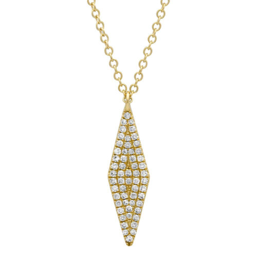 0.17ct 14k Yellow Gold Diamond Pave Pendant SC55001717 500x500 - 0.17ct 14k Yellow Gold Diamond Pave Pendant SC55001717