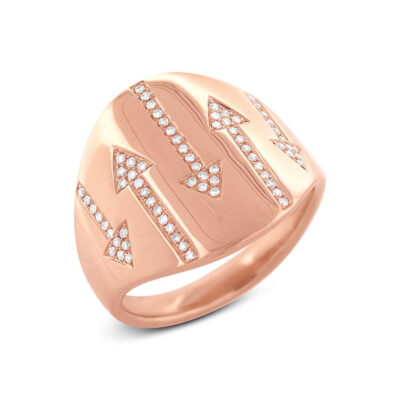 0.19ct 14k Rose Gold Diamond Arrow Ring SC55002110 400x400 - 0.19ct 14k Rose Gold Diamond Arrow Ring SC55002110