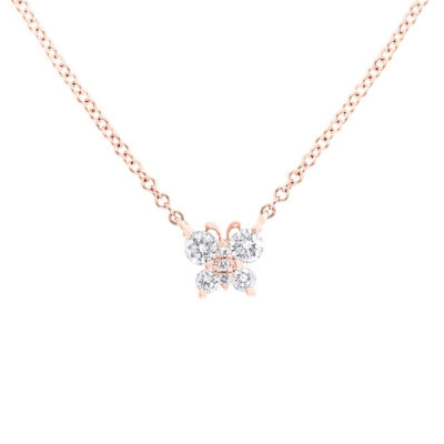 0.19ct 14k Rose Gold Diamond Butterfly Pendant SC55006278 400x400 - 0.19ct 14k Rose Gold Diamond Butterfly Pendant SC55006278