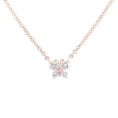 0.19ct 14k Rose Gold Diamond Butterfly Pendant SC55006278 500x500 - 0.19ct 14k Rose Gold Diamond Butterfly Pendant SC55006278