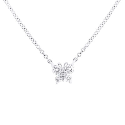 0.19ct 14k White Gold Diamond Butterfly Pendant SC55006276 400x400 - 0.19ct 14k White Gold Diamond Butterfly Pendant SC55006276