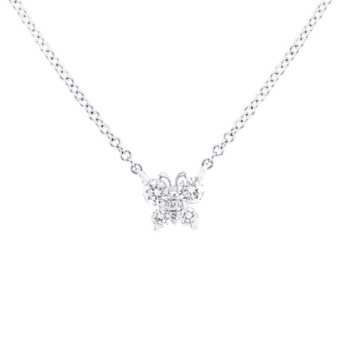 0.19ct 14k White Gold Diamond Butterfly Pendant SC55006276 500x500 - 0.19ct 14k White Gold Diamond Butterfly Pendant SC55006276