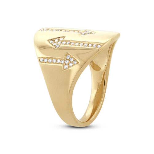 0.19ct 14k Yellow Gold Diamond Arrow Ring SC55002109 2 500x500 - 0.19ct 14k Yellow Gold Diamond Arrow Ring SC55002109