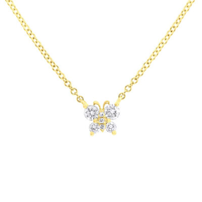 0.19ct 14k Yellow Gold Diamond Butterfly Pendant SC55006277 400x400 - 0.19ct 14k Yellow Gold Diamond Butterfly Pendant SC55006277