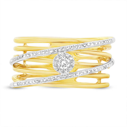 0.21ct 14k Two tone Gold Diamond Bridge Ladys Ring SC55003299 1 500x500 - 0.21ct 14k Two-tone Gold Diamond Bridge Lady's Ring SC55003299