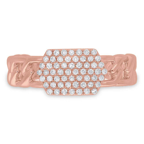 0.22ct 14k Rose Gold Diamond Pave ID Chain Ring SC36213799 1 500x500 - 0.22ct 14k Rose Gold Diamond Pave ID Chain Ring SC36213799