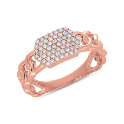 0.22ct 14k Rose Gold Diamond Pave ID Chain Ring SC36213799 400x400 - 0.22ct 14k Rose Gold Diamond Pave ID Chain Ring SC36213799