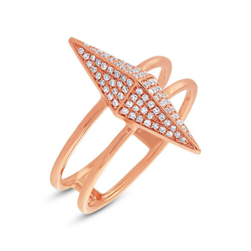 0.22ct 14k Rose Gold Diamond Pave Pyramid Ring SC55002081 500x500 - 0.22ct 14k Rose Gold Diamond Pave Pyramid Ring SC55002081