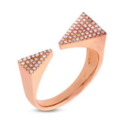 0.22ct 14k Rose Gold Diamond Pave Triangle Ring 1 400x400 - 0.22ct 14k Rose Gold Diamond Pave Triangle Ring SC55001372