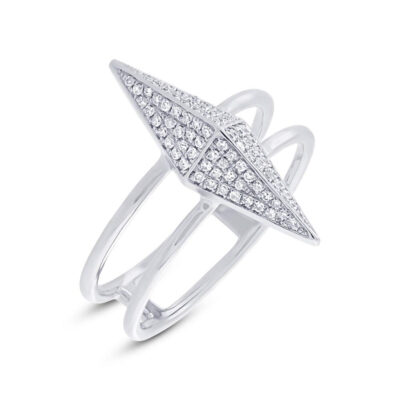 0.22ct 14k White Gold Diamond Pave Pyramid Ring SC55002079 400x400 - 0.22ct 14k White Gold Diamond Pave Pyramid Ring SC55002079