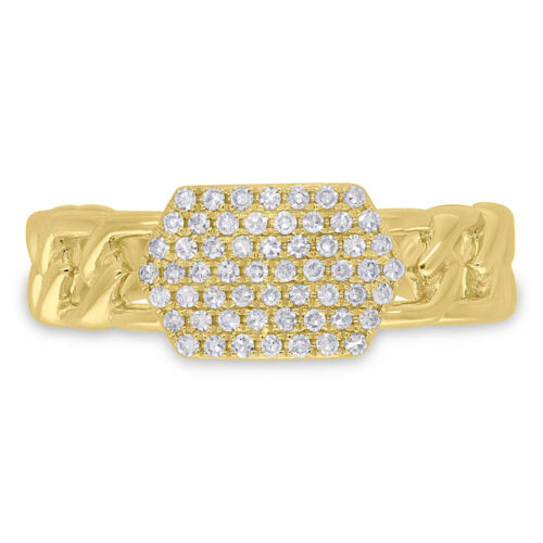 0.22ct 14k Yellow Gold Diamond Pave ID Chain Ring SC36213798 1 500x500 - 0.22ct 14k Yellow Gold Diamond Pave ID Chain Ring SC36213798