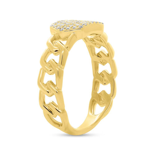 0.22ct 14k Yellow Gold Diamond Pave ID Chain Ring SC36213798 2 500x500 - 0.22ct 14k Yellow Gold Diamond Pave ID Chain Ring SC36213798