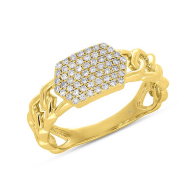 0.22ct 14k Yellow Gold Diamond Pave ID Chain Ring SC36213798 400x400 - 0.22ct 14k Yellow Gold Diamond Pave ID Chain Ring SC36213798