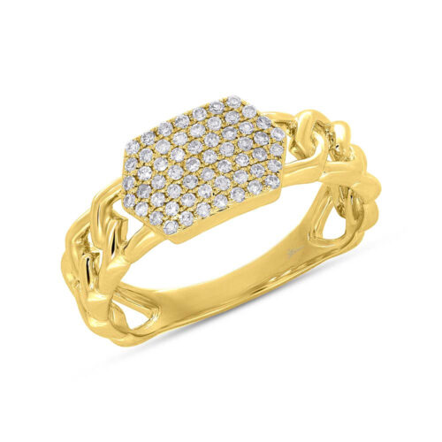 0.22ct 14k Yellow Gold Diamond Pave ID Chain Ring SC36213798 500x500 - 0.22ct 14k Yellow Gold Diamond Pave ID Chain Ring SC36213798