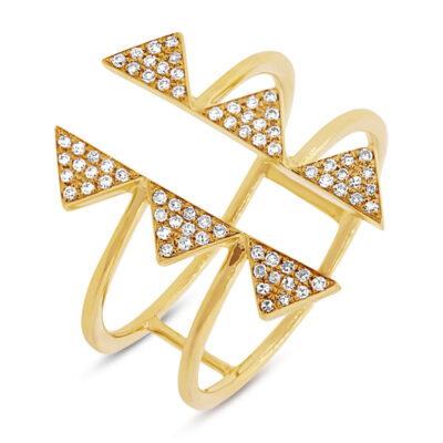 0.22ct 14k Yellow Gold Diamond Pave Triangle Ring SC55001308 400x400 - 0.22ct 14k Yellow Gold Diamond Pave Triangle Ring SC55001308