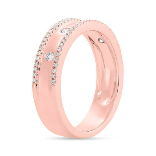 0.23ct 14k Rose Gold Diamond Ladys Ring SC55004098V3 2 500x500 - 0.23ct 14k Rose Gold Diamond Lady's Ring SC55004098V3